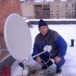 Rácz András antennaszerelő:  Műholdas antenna szerelés a tetőn
