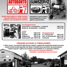 Szira Autóbontó és Gumiszerviz