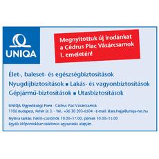 Uniqa Biztosító Ügynökségi Pont - Cédrus Piac