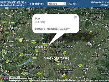 Itt most a 30. hét adatai Pestre, alacsony a koncentráció (forrás: antsz.hu)
