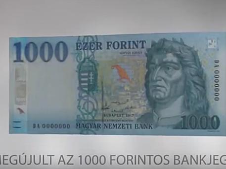 Az új 1000 forintos (forrás: MNB)